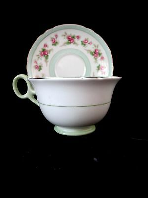 Footed Demitasse Cup & Saucer Set Z13247  Roses Pattern by Shelley MINT