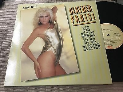"""Heather Parisi - Sung In Spanish 12"""" Maxi Spain Emi 88 Synth Pop Sexy Cover Sin"""