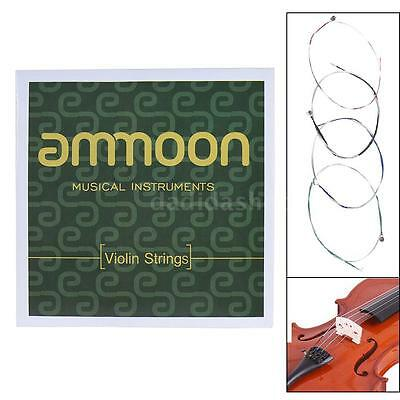 ammoon Full Set High Quality Size 1/2 & 1/4 Violin Strings G D A and E W9N1