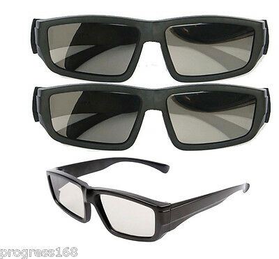 2x Passive Polarized IMAX 3D Glasses For Dimensional Anaglyph Movie Game DVD