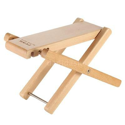 Foldable Wood Guitar Pedal Guitar Foot Rest Stool 3 Height Levels Beech NEW A4B6