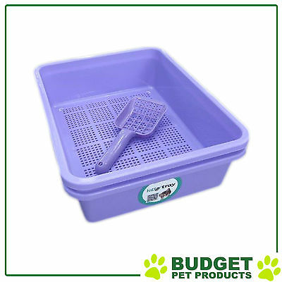 Kitter Wood Pellets Cat Litter Double Tray System