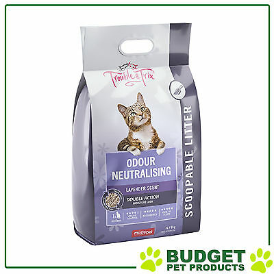 Trouble & Trix Lavender Clumping Scoopable Clay Litter For Cats 7L Bag / 2.7kg