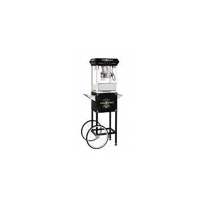 Black Snack Station Popcorn Machine with Cart