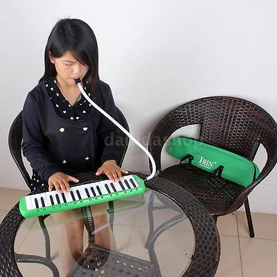 37 Piano Keys Melodica Pianica with Carrying Bag for Student Kid Gift Green Q9U4