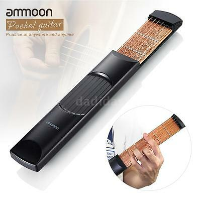 ammoon Acoustic Guitar Practice Tool Gadget Chord Trainer 6 String 6 Fret L4U3
