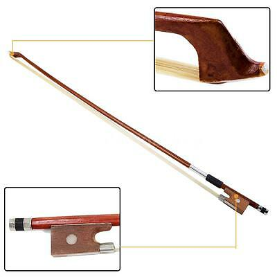 New 1/4 Handle Arbor Fiddle Horsehair Violin Bow Bronze H3E4