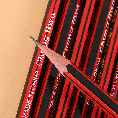 10pcs HB Pencils With Rubber Eraser Tip Pencil Students Office School Stationery