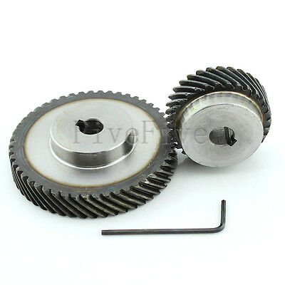 1M 50T/30T Metal Helical Wheel Gear 90° Pairing Bevel Gearing Set Kit Ratio 5:3