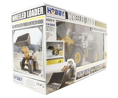 Hobby Engine - Big 1:14 Scale Radio Control Wheeled Loader with Lights HE0806