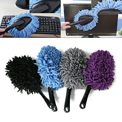 Practical 4Color Handle Duster Home Car Microfiber Cleaning Duster Dust Cleaner
