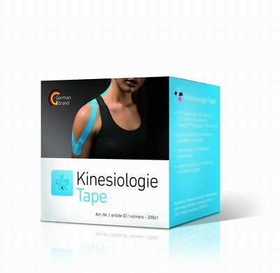 6 Rollen tape EASY - Kinesiologisches Tape - 5 cm x 5 m - blau - Physio