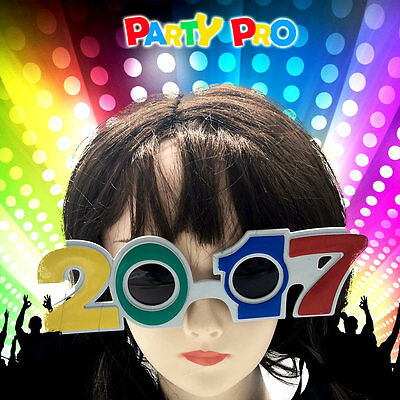 2017 New Year's Eve Party Plastic Glasses Costume Accessories Graduation Novelty