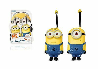 2x Minions WALKIE TALKIE Despicable Me Children Fun Indoor Outdoor Communication