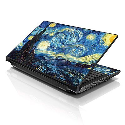"""Starry Night Laptop Sticker Decal Skin Cover Protector For 13"""" 14""""15.6"""" Notebook"""
