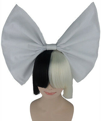 Sia Style Mid Length Fringe With Bow Adult Wig | Hd1072/hd1073