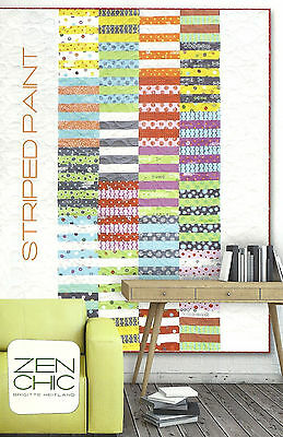 Zen Chic Striped Paint Jelly Roll Friendly Quilt Pattern