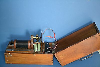 Antique Early 20th Century Medical Electro-Shock Machine, With Accessories,c1900