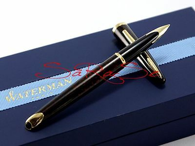 Waterman Carene Tanbraun Füller Fountain Pen Lack Braun 18Kt. Feder