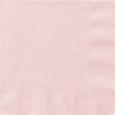 Pastel Pink Lunch Plain 20 Paper Napkins Tableware Supplies Soft Serviettes