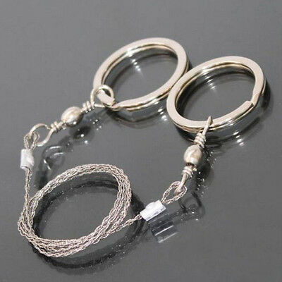 Emergency Survival Stainless Steel Wire Saw Camping Hunting Climbing Gear5HUK