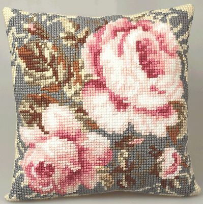 Collection D'Art - Cross Stitch Cushion Front Kit - Ancient Rose  - CD5052