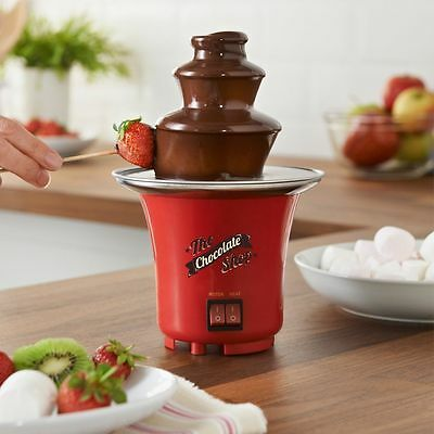 Electric Powered Chocolate Fountain Parties Celebration Fun Fondue Dipping Set