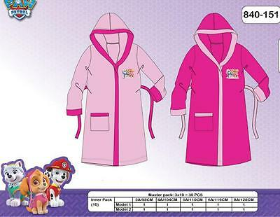 Paw Patrol Girls Dressing Gown 3 4 5 6 7 8 Years Light Pink/Fuschia