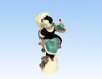 "Royal Worcester Figurine ""Chinoiserie Girl"" (Head Down) #3348 Black Mark"