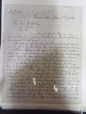 Joel F. Whitney - Autograph Letter Signed - 1873