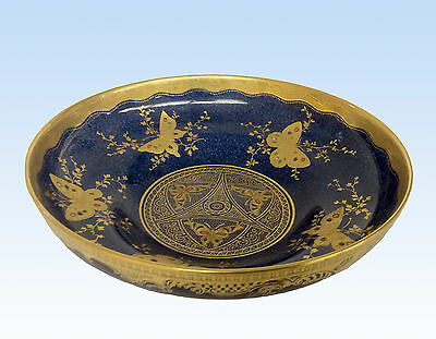 Aynsley Bone China, Gold Jewelled Butterflies Bowl, Gold Rim - Art Nouveau