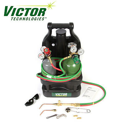 Victor Portable Tote Torch Set for Brazing Soldering With Cylinders, 0384-0946