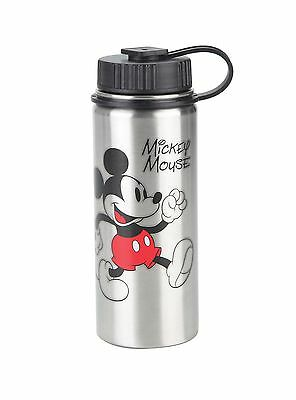 Disney Mickey Mouse Stainless Steel Water Bottle Hot or Cold 6 hours 18oz. - NWT