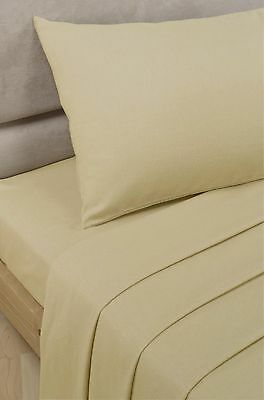 Polycotton Percale - Flat Sheet - Biscuit - King Size