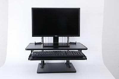Height adjustable sit/stand table mount for laptop/monitor.computer desk riser