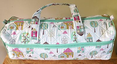 LONG KNITTING CRAFT BAGS 'Home' Design Houses & Trees Super Quality BRAND NEW
