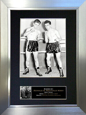 KRAY TWINS Ronnie & Reggie Signed Autograph Mounted Repro Photo A4 Print 611