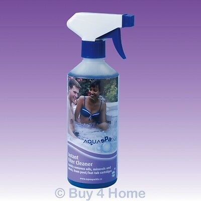 Aquasparkle 0.5L Instant Filter Cleaner for Hot Tub Spa Swimming Pool Chemicals