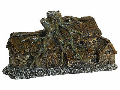 New Old Spooky House with Tree Roots Aquarium Ornament Fish Tank Decoration fish