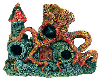 New Middle Earth Root Tower Fish House Cave Aquarium Ornament Fish Tank Decor