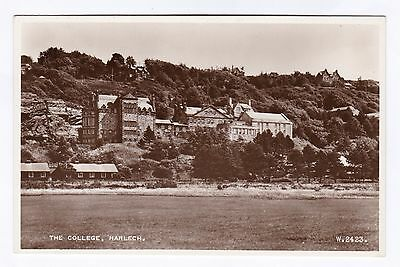 P2904 Original old RP postcard of The College, Harlech