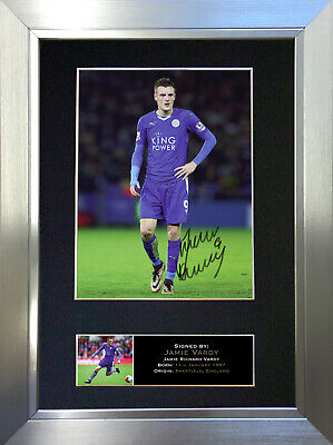 JAMIE VARDY Leicester City Football Signed Autograph Mounted Photo Re-Print 610