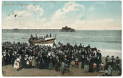 Old Rare Postcard Lifeboat Skegness Beach Dated 1906 (Ref: AK555)