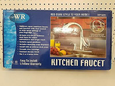 Water Ridge Pull Down Kitchen Faucet Polished Chrome 205674 Easy To