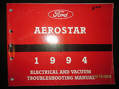 1994 FORD AEROSTAR Electrical Troubleshooting Shop Service Manual Original OEM
