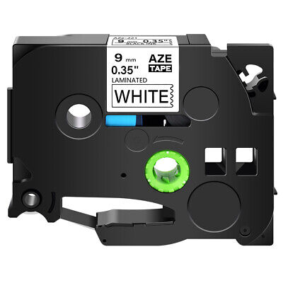 "Black on White Tape 3/8"" TZ-221 TZe-221 For Brother P-touch 1000BM Lable Printer"
