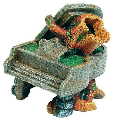Sunken Piano with Trunk Aquarium Fish Tank Ornament Decoration NEW -  FISH TANK