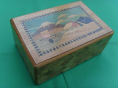 Vintage Japanese Puzzle box With Hidden Drawer 7 moves to open