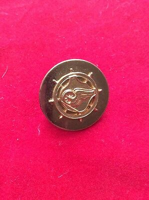 WW2 WWII US Army Transportation Corps Brass Rolled Edge Collar Disk