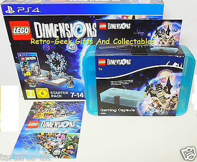Lego Dimensions Bundle Playstation PS4 Starter Pack Gaming Capsule Booklet Guide